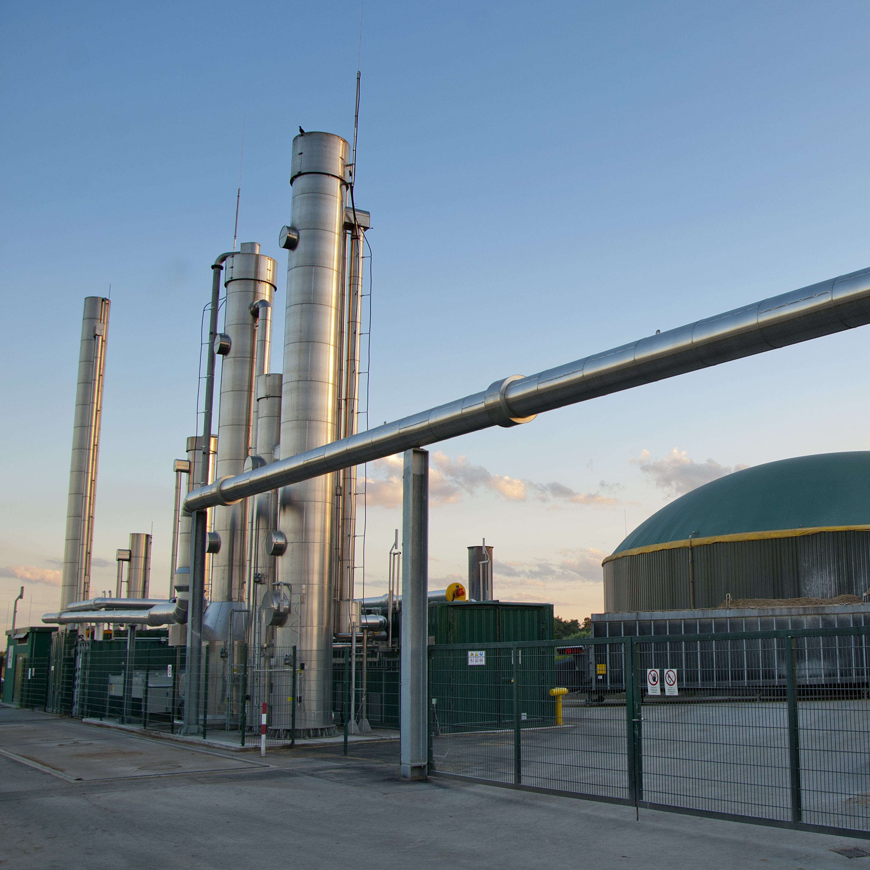 Landfill gas plant