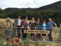 Visitors at the Pigeon Bush Reserve near Wellington