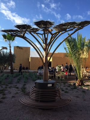 A solar tree to charge devices at COP22