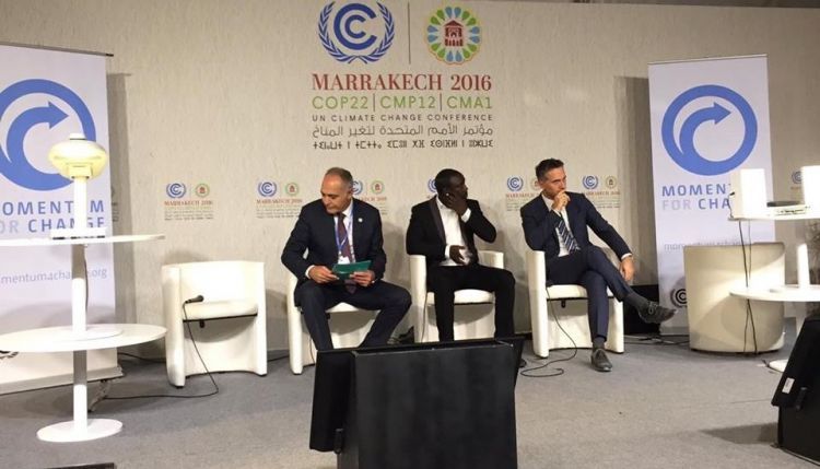 Akon speaks on smart lighting systems at COP22