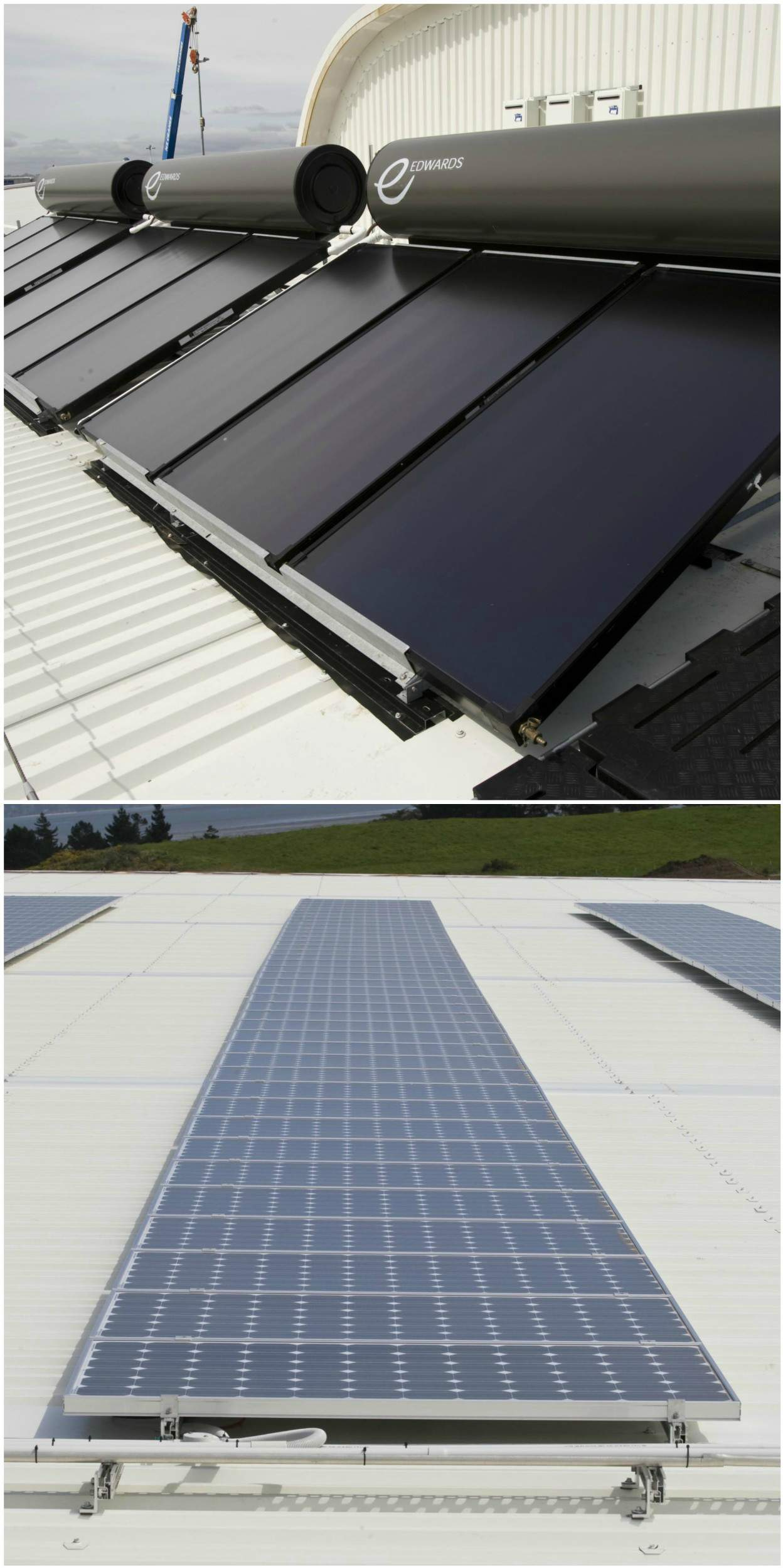Solar panels at Auckland Airport