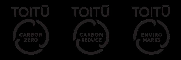 Our Toitū carbonreduce, Toitū carbonzero and Toitū enviromark programmes