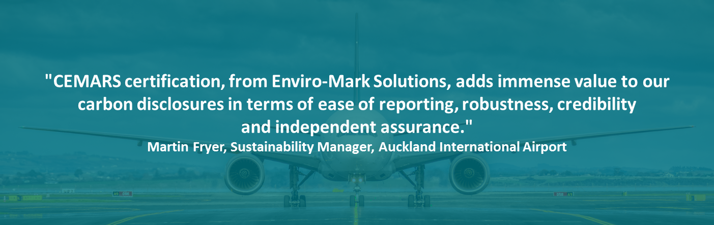 Quote by Auckland Airport Sustainability Manager, Martin Fryer
