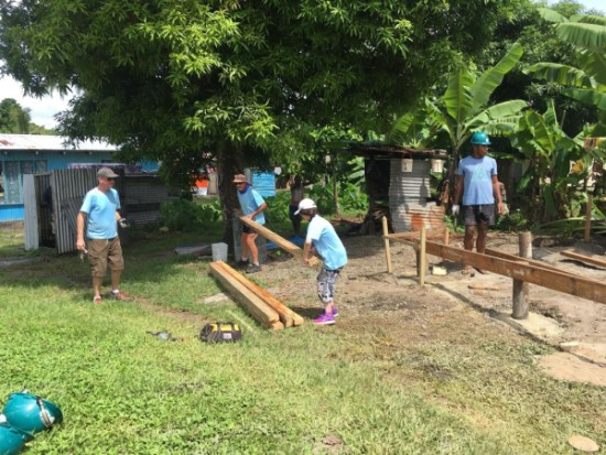 Dr Belinda Mathers volunteering trip with Habitat for Humanity