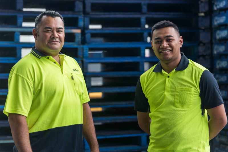 CHEP Brambles two employees at pallet service centre