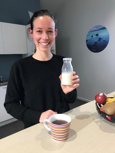 Kate makes homemade oat milk