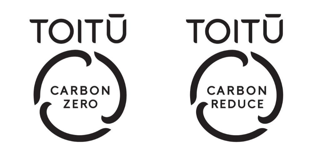 Toitū carbonzero and carbonreduce certification programme marks