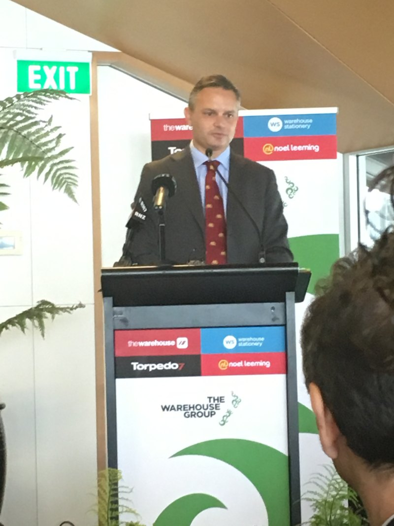 Minister James Shaw at The Warehouse Group's carboNZero presentation event