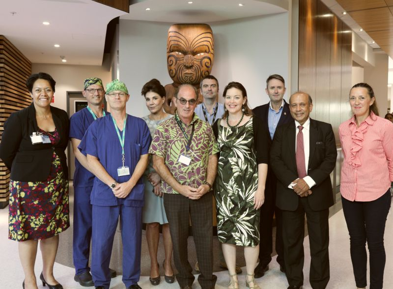 Minister Julie Ann Genter on her visit to meet the Sustainability team with Margie Apa (CEO), senior clinicians, senior management and previous members of the CM Health Board.