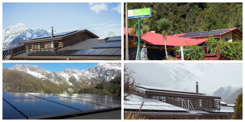 YHA New Zealand - Solar Panels
