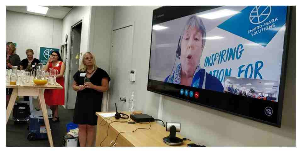 Ann joining our Auckland networking event from Christchurch via video conference.