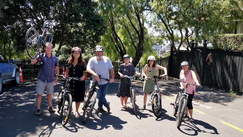Toitū's Parnell office getting stuck in with the 2018 Aotearoa Bike Challenge