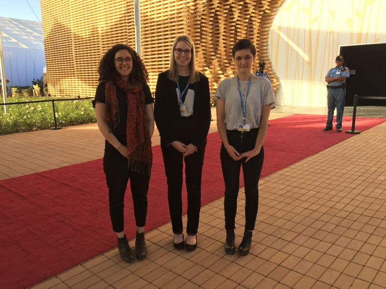 Final day at COP22 outside Plenary Marrakech where the closing plenary meetings are taking place