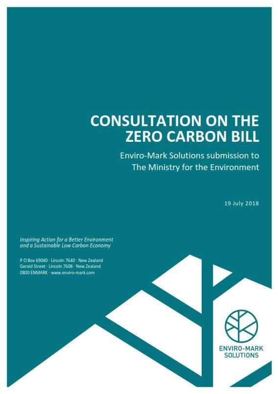 Enviro-Mark Solutions' Zero Carbon Bill Consultation response submission