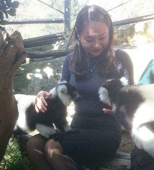 Auditor Louise Li at the Wellington Zoo