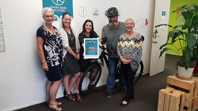 Enviro-Mark Solutions team are winners of the Auckland Bike Challenge 2018