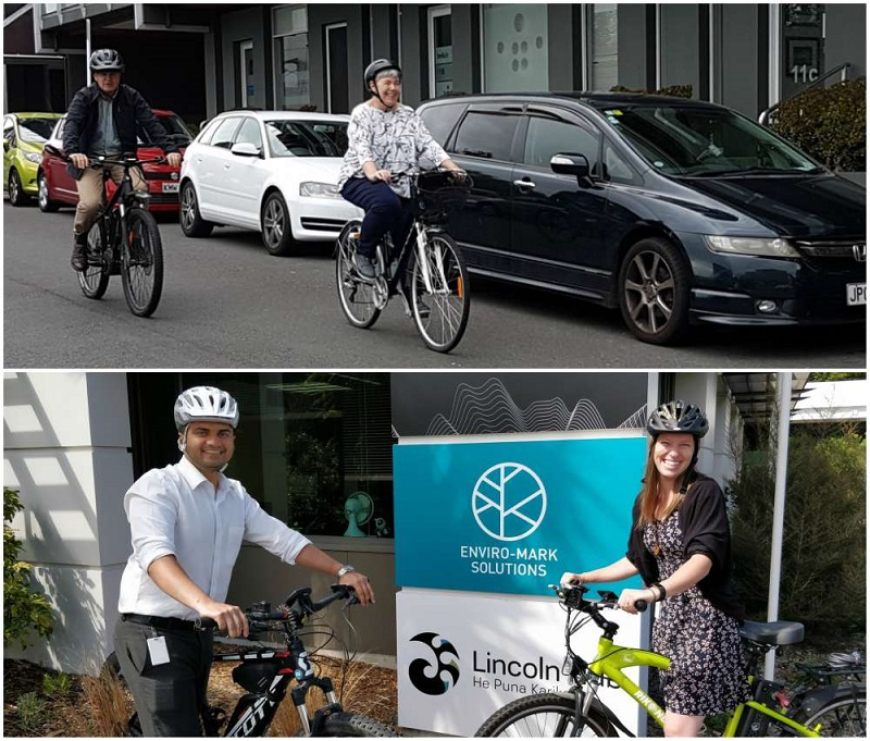 Enviro-Mark Solutions Team competing at the Auckland Bike Challenge 2018