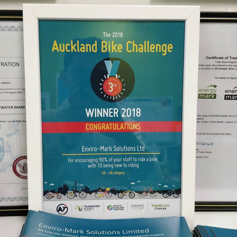 Auckland Bike Challenge 2018 | third place certificate
