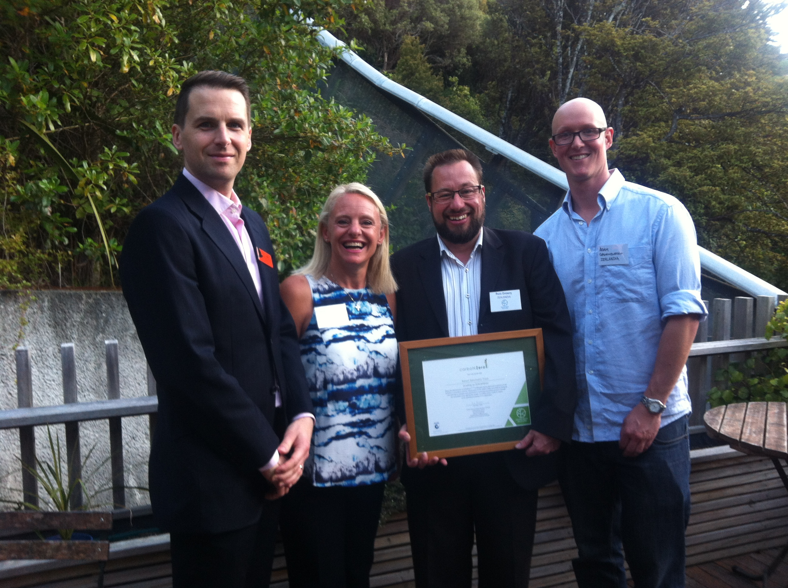 ZEALANDIA certificate presentation