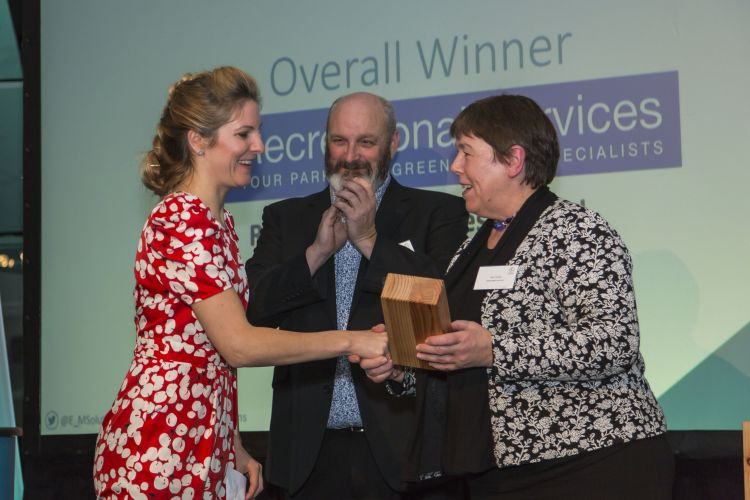 Recreational Services receiving the overall winner in Environmental Management award at the 2017 Outstanding Performance Awards