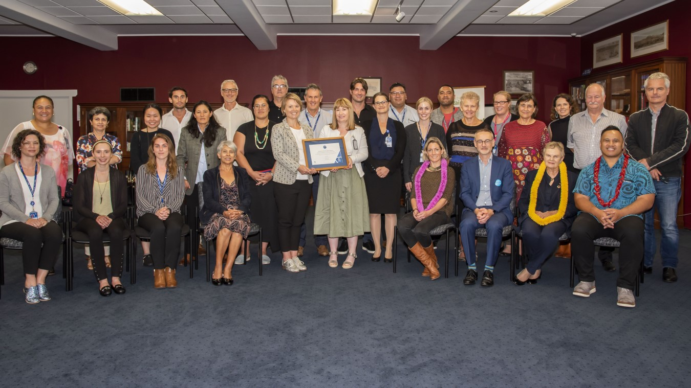 Auckland DHB team receiving the CEMARS certificate