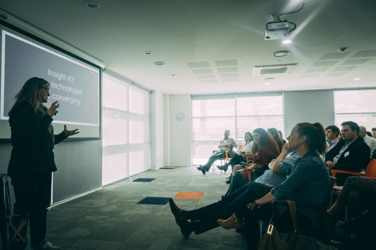 Kaila Colbin, BOMA, speaks at Sustainability Success - Stories from the South on 27 September. Photo credit: Jackson White