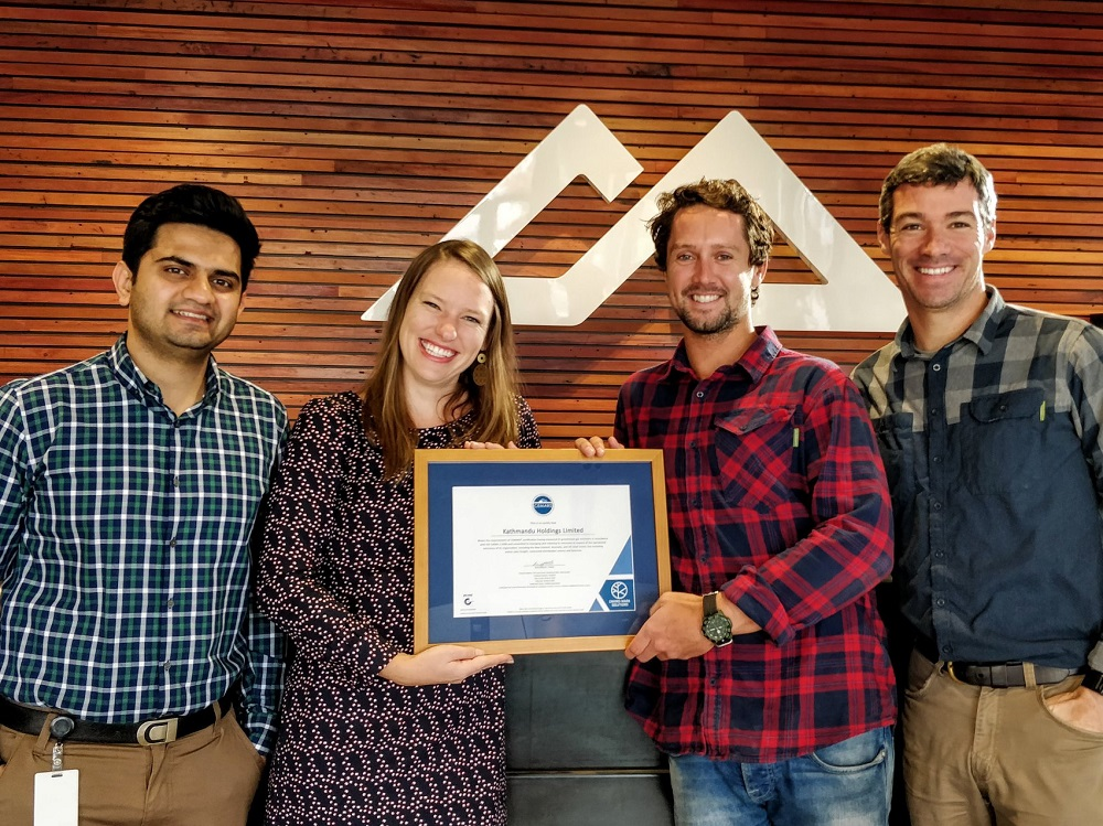 Kathmandu receiving their CEMARS certification in 2017