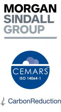 Morgan Sindall, CEMARS and carbonReduction logos